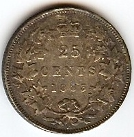 1883 Twenty-Five Cents Canada