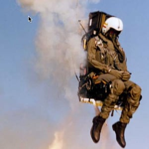 Pilot ejecting