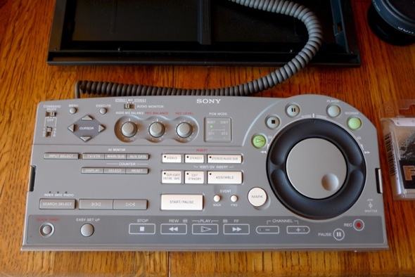 SONY DHR-1000 editing console